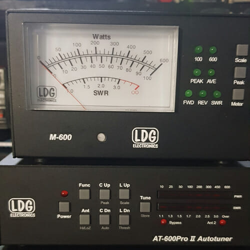 LDG AT - 600 PRO 2 including M600 meter 600w tuner